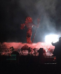 A view of the amazing attractions made for Fright Fest.