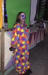 One of the creepy clowns that are waiting on their next victim to scare.