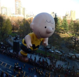 A Charlie Brown float that many enjoyed during the 2013 Macy's Thanksgiving Dat Parade. Photo Credits: Hollie Jones