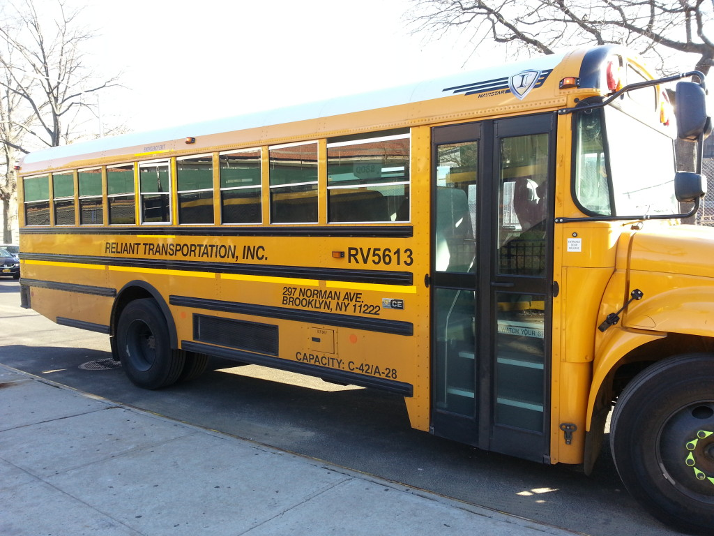 Schools buses may not be transporting students for trips for a while.