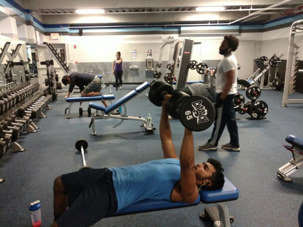 Imran Azad working on his gym  resolution for 2015-2016