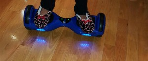 This is a hoverboard in use before the ban.