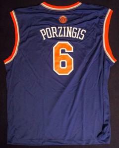 Kristaps Porzingis Jersey has become a favorite among many Knicks fans.