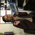 Tiffany Sukhnandan with a pack of winter Oreos!