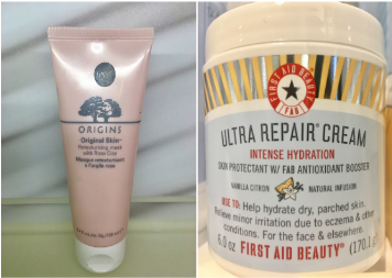 """ORIGINS Retexturizing Mask with Rose Clay. """"This mask is a two-in-one purifying and skin refiner that makes the skin smoother, refine pores, and boost skin's overall quality. It gives a gently deep clean while refining skin's texture, giving it a silky-smooth to the touch"""" This mask retails for $26 in store at Sephora and online. First Aid Beauty Ultra Repair Cream """"this cream is a treatment for skin conditions like eczema and dermatitis, Ultra Repair Cream perfect for dry skin and is safe for sensitive skin. It is perfect for colder weather hydration."""" This dry skin fighting cream retails for $28 at Sephora and at Sephora.com."""