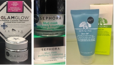 """(left) GLAMGLOW SUPERMUD Clearing Treatment. """"The charcoal in this mask lifts away dirt and the mud formula supports skin's natural oil balance and controls it"""" This super mask retails for 70$ at Sephora and online. (right) A perfect dupe for this product at a much fair price, the Sephora Collection Mud Mask Purifying and Matifying Mask which retails for 20$ online and in store. ORIGINS Oil-Free Moisture Lotion. """"this is oil-free and a hydrating lotion that reduces shine, refines skin texture, and creates a smooth, matte finish for oily skin"""" this lotion costs $30 and can be found online or in store at Sephora."""