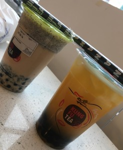 Oreo and Mango Bubble Tea are Kung Fu Tea's most popular flavors and you can go try it with your date!  Photo Credit: Tiffany Naraine