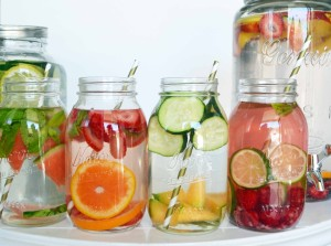 It is easy to stay hydrated when you keep water interesting by infusing it with fruits! Photo Credit: Bhavna Roopchand
