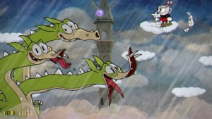 Photo Caption: Cuphead's hand drawn art style serves as a throwback to 1930s animation. Photo Credit: Studio MDHR