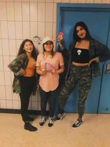 Students who dressed up for character day Aliyah Majid-Todd