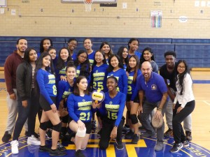 The Edison Girls Volleyball team on October 23rd,2018 the day they played against Forest Hills High School. Credit: Charisma Jugdeo