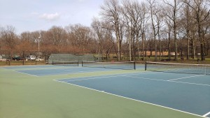 The tennis court in Cunningham park where the team practices Photo credit- Michelle Chew