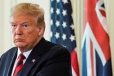 U.S. President Donald Trump addresses a joint news conference with Australia's Prime Minister Scott Morrison in the East Room of the White House in Washington, U.S., September 20, 2019. REUTERS/Joshua Roberts