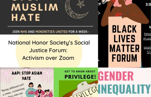 National Honor Society's Social Justice Forum: Activism Over Zoom